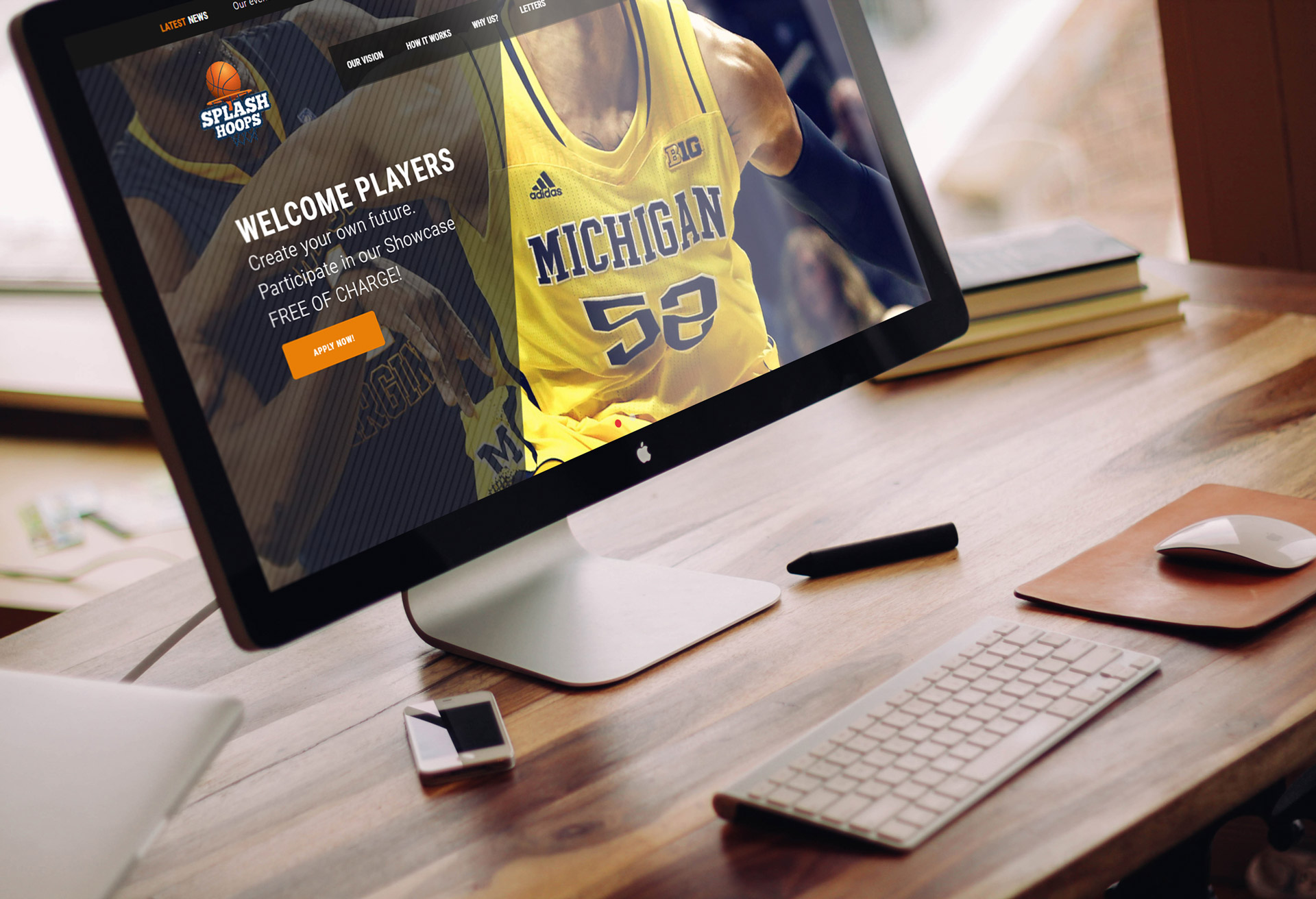 splash hoops web design