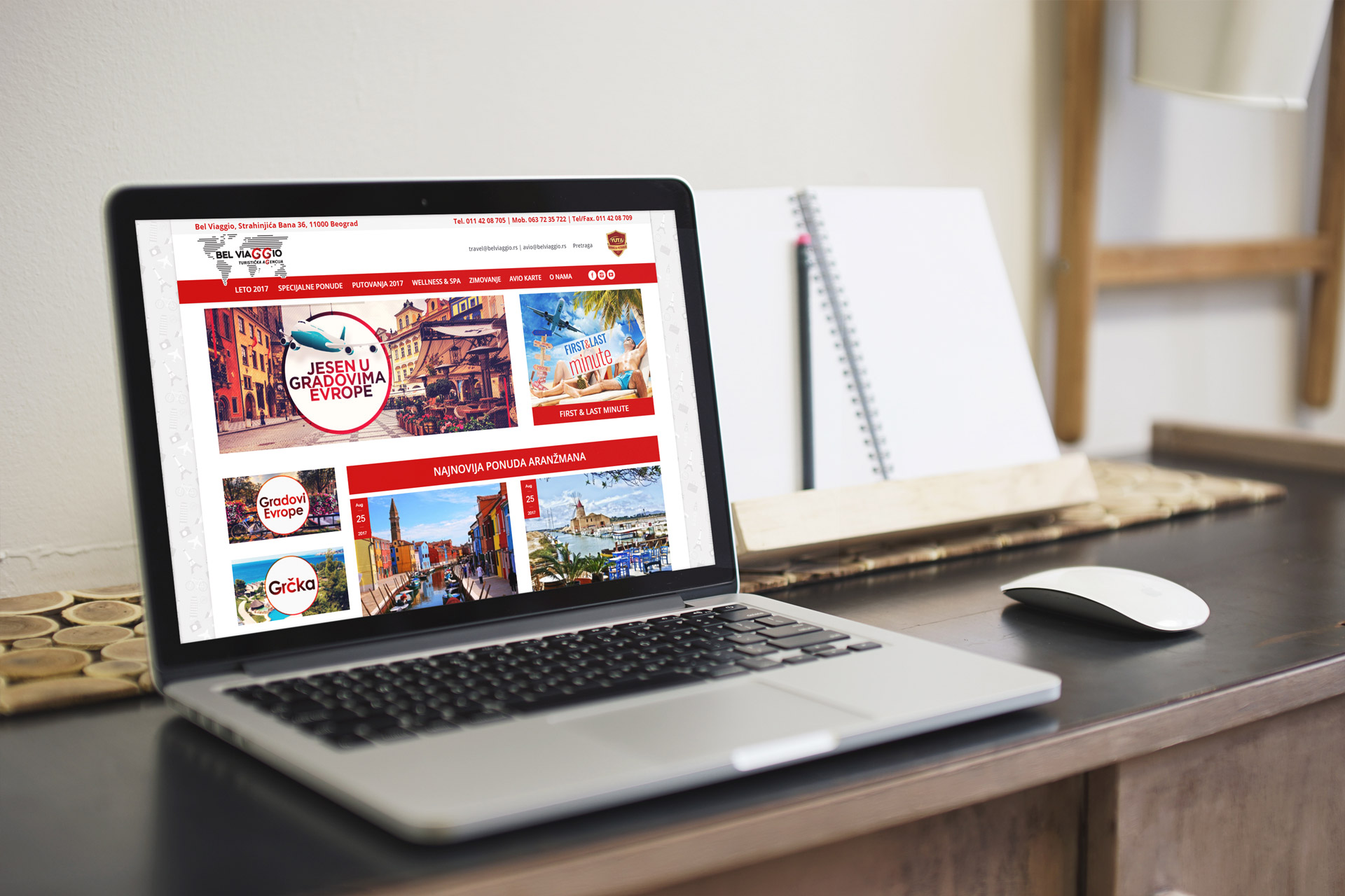 belviaggio travel agency web design