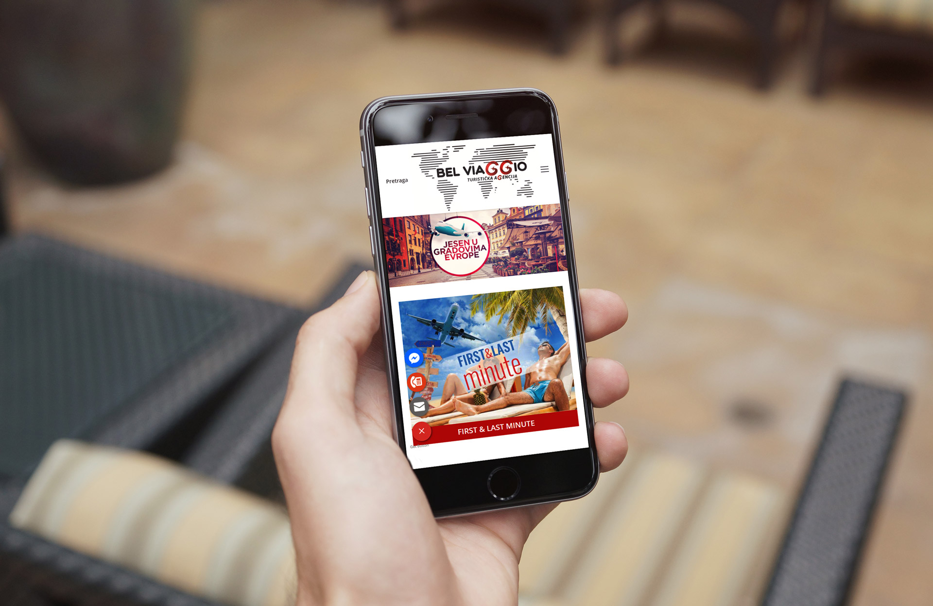 belviaggio travel agency mobile design
