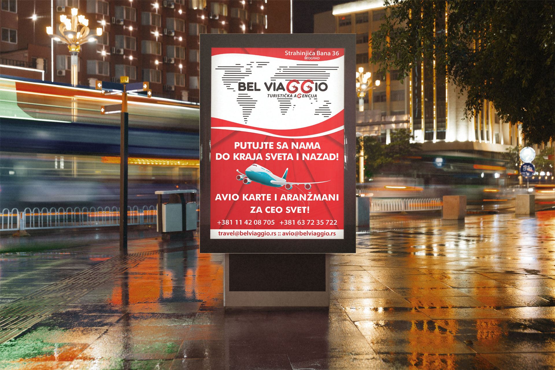 belviaggio travel agency billboard design